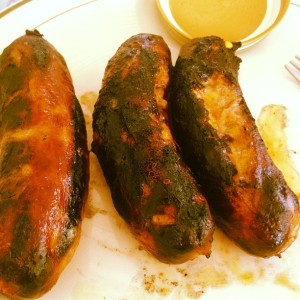 burnt grilled brats